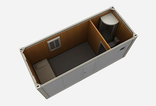 flat pack suite accomodation shipping container