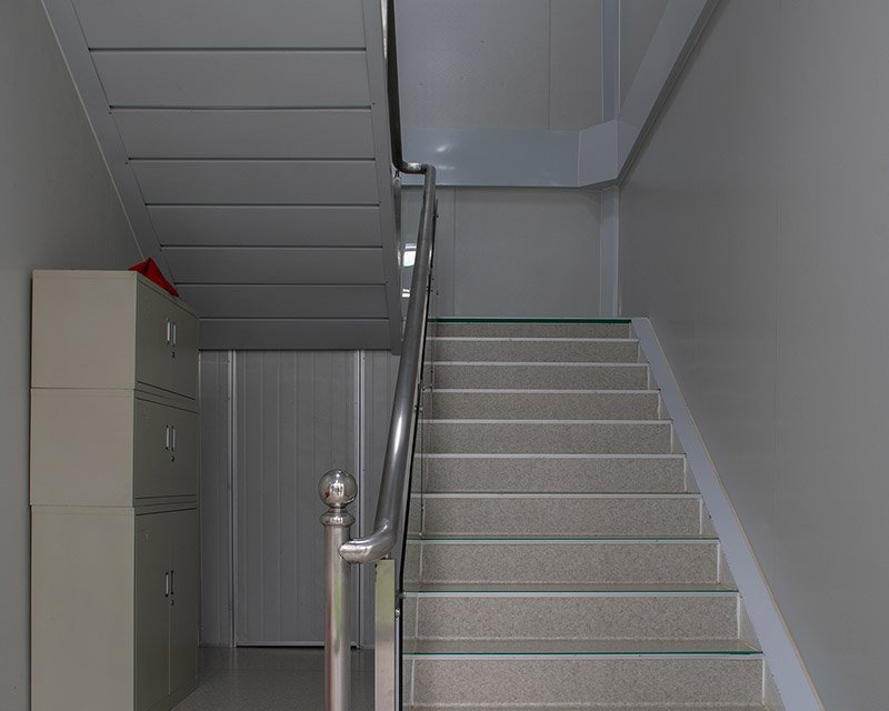 modular office building stairs