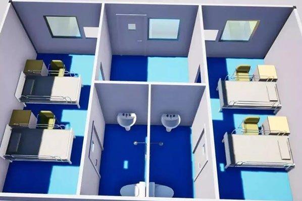 temporary hospital layout
